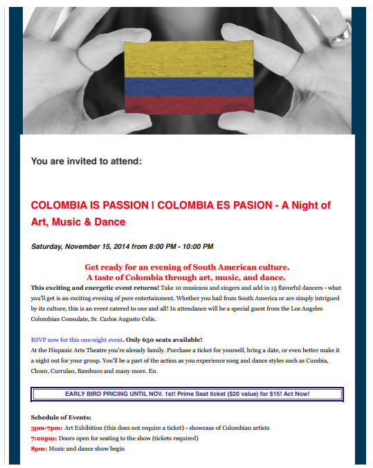 Colombia is Passion flyer 01